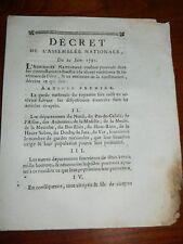 293-REVOLUTION 1791 fuite de Varennes: Mesures à prendre pour la Garde Nationale