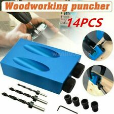 14pcs/Set 15° Pocket Hole Screw Jig with Dowel Drill Carpenters Wood Joint Tool
