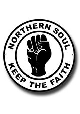 NORTHERN SOUL ROUND ENAMELLED METAL SIGN