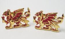 NEW Red & Gold Lucky Dragon Cufflinks  Cuff Links 11416