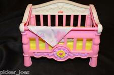 MATTEL 2006 Fisher-Price Dollhouse Furniture Part BABY CRIB w/ BLANKET 4x6""