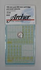 Archer 1/35 155mm & 203mm Cartridge and Shell Stencils (for AFV Club) AR35342