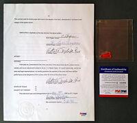 BEN HOGAN Signed 7-Page Contract w/ Full Signature Golf Legend Auto PSA/DNA COA
