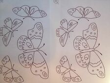 Webster Butterflies iron on Embroidery transfer 4 x A4 sheets