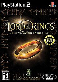 PS2 Lord of the Rings The Fellowship of the Ring Sony Play Station 2 Case Disc