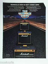 retro magazine advert 1982 MARSHALL 50 watt combo