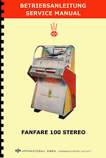 MANUALE (BETRIEBSANLEITUNG - SERVICE MANUAL) JUKEBOX NSM FANFARE 100 STEREO