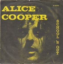 """ALICE COOPER SCHOOL'S OUT RARE UNIQUE COVER 1973 RECORD YUGOSLAVIA 7"""" PS"""