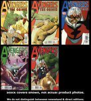 Avengers: The Origin 1 2 3 4 5 Marvel 2010 Complete Set Run Lot 1-5 VF/NM