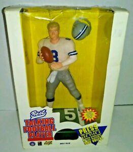 VINTAGE Troy Aikman Action Figure Large 12in Voice Activated Dallas Cowboys Best