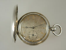 English Silver FUSEE hunter pocket watch w/ silver dial c1853 NO RESERVE