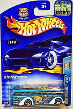 HOT WHEELS 2003 WORK CREWSERS BUS #149 BLUE FACTORY SEALED