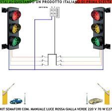 TRAFFICO SEMAFORO ROSSO GIALLO VERDE PARCHEGGIO 3 LUCI LAMPADE 230 V 70 W E 27