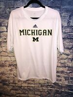 Adidas® Mens White Michigan Football CLIMALITE TShirt Size L