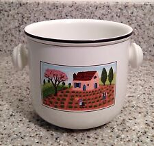 """VILLEROY & BOCH Luxembourg DESIGN NAIF Pattern 3 3/4"""" Tab Handle CACHEPOT"""