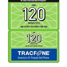 TRACFONE 120 MINUTE REFILL CARD 90 Days Of Service Please Give Number Add