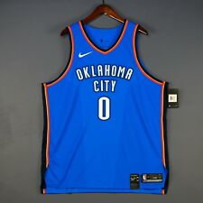 100% Authentic Russel Westbrook Nike Thunder Icon Jersey Mens Size 56 2XL