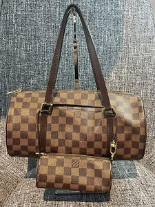 Authentic LOUIS VUITTON Papillon Damier Ebene 30 Shoulder Bag / Handbag