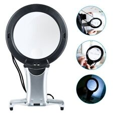 6X Large Magnifying Glass With Light Led Lamp Giant Magnifier Reading Hands Free