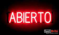 SpellBrite Ultra-Bright ABIERTO Open Sign Neon-LED Sign (Neon look, LED power)