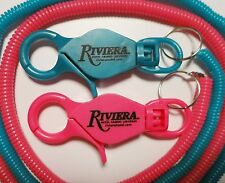 48 Riviera Casino slot players card bungee keychain lanyard cord Las Vegas Lot