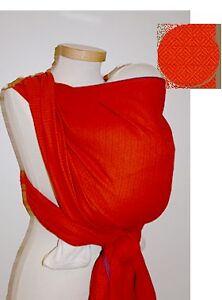 Storchenwiege Leo Orange Baby Wrap