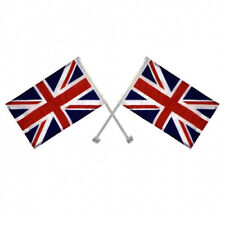 2 X Union Jack Window Car Flags United Kingdom Great Britain With Delivery