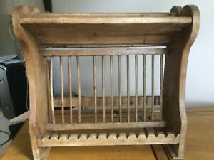 antique pine plate rack 15 piece
