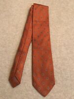 """Brioni"" 100% Silk, Mans Tie, Orange Color, Brand New, Made Italy"