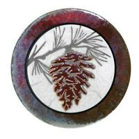 "Pinecone Hotplate Raku Pottery 6.5"" NEW"