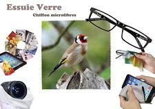 chardonneret goldfinch #06 essuie verre chiffon microfibres lunettes, téléphone