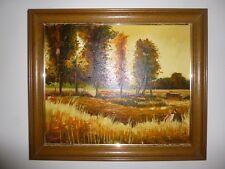 """Huile sur Toile: S. Vilata: """"Au début de l'Automne"""" (Oil on Canvas) '77"""