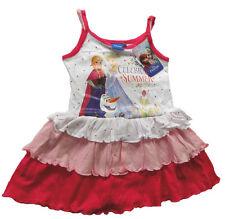 Mädchen Trägerkleid Disney Frozen die Eiskönigin Anna Elsa Kleid Spaghettiträger