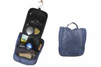 DR. DITTMAR Kulturtasche in Blau zum Aufhängen Kulturbeutel für Herren praktisch