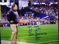 BILL BELICHICK Authentic Hand Signed Autograph 8X10 Photo - PATRIOTS - TO TOM