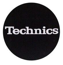 Pair Felts Anti-static Wipes Turntable Slipmats Technics Black Logo Silver