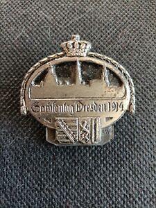 Altes Abzeichen Sachsentag Dresden 1914 Sehr Selten
