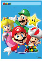 8 x Super Mario Birthday Party Bags Take Home Favour Bags Mario Party Supplies