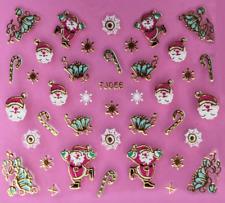 Nailart Stickers Autocollants Ongles Déco Noël Scrapbooking Flocons Fleurs