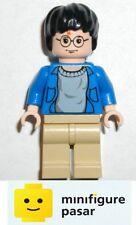 hp059 Lego 4755: Knight Bus - Harry Potter Blue Open Shirt Minifigure - New