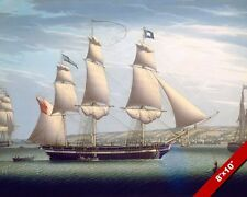 FRENCH FRIGATE SHIP THE FAVORITE ITALIAN NAVY PAINTING ART REAL CANVAS PRINT