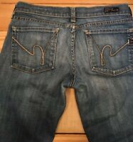 Citizens of Humanity COH Kelly 001 Low Waist Boot Cut Jeans Sz 28 Womens Stretch