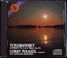 Lorin Maazel: Tchaikovsky Symphony 5 CBS CD made in Japan Ciaikosky Filarmonica