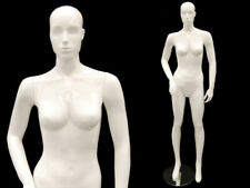 Glossy White Full Body Adult Female Abstract Fiberglass Fashion Mannequin