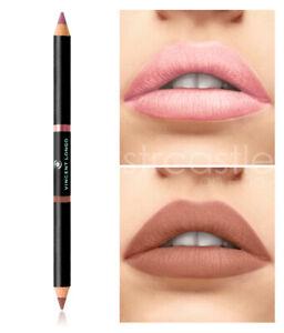 Vincent Longo Duo Matte Lip Pencil, Passion & Spring Rose NEW