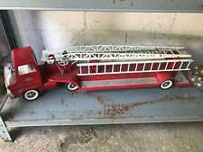 Vintage Pressed Steel Tonka TFD No 5 Metal Toy Fire Truck Hydraulic