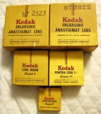 Lot of 3 Kodak Lens - 1 Lens Hood - 1 Adapter Ring