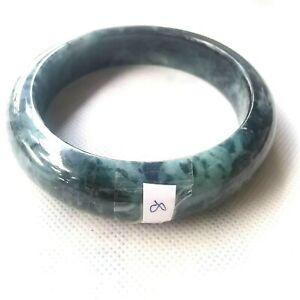 65.9 mm Untreated Beauty Green Natural Jade Jadeite Bangle Bracelet from Burma