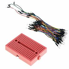 Red 170-Point Solderless Breadboard + 65pcs Jumper Wires