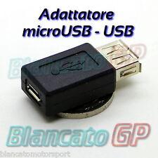 ADATTATORE USB A FEMMINA - microUSB B FEMMINA adapter female converter DC 2.0